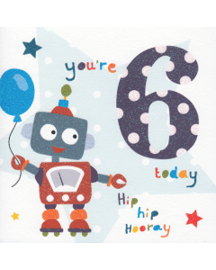 'You're 6 Today' Card