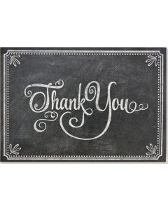 Boxed Thank You Cards - Chalkboard