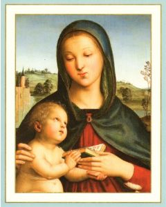 Christmas Cards (Box of 16) - Madonna and Child with Book