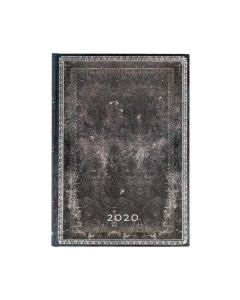 2020 Midnight Steel Midi Horizontal Diary