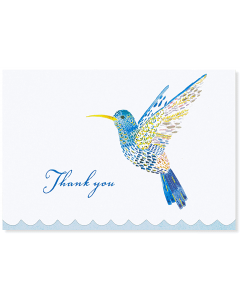 Boxed Thank You Cards - Watercolour Hummingbird