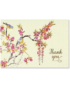 Blossoms and Bluebirds Thank You Notecard Box