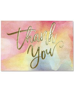 Watercolour Sunset Thank You Notecard Box