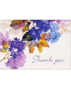 Lilacs Thank You Notecard Box