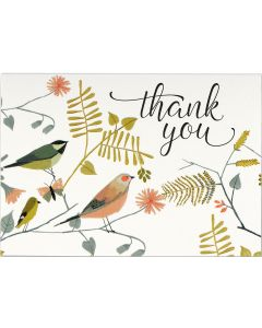 Songbirds Thank You Notecard Box