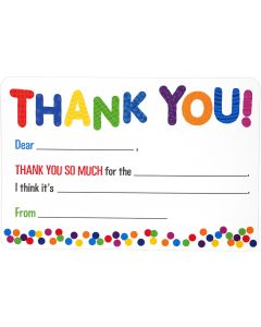 Kids' Fill-in Thank You Notes