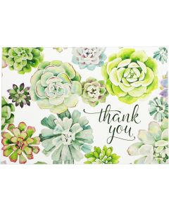 Succulent Garden Thank You Notecard Box