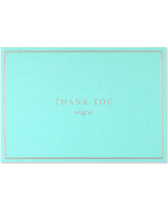 Boxed Thank You Cards - Blue Elegance