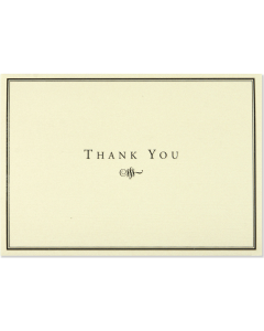 Boxed Thank You Cards - Black and Cream