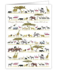 BIG Birthday card - Wild Animals