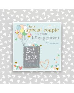 ENGAGEMENT - 'To a special couple', balloons & hearts