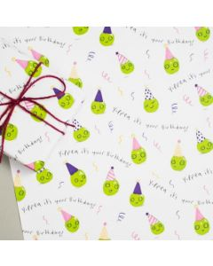 Folded wrapping paper - 'YIPPEA' party peas