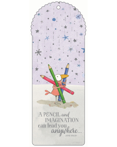 A Pencil and Imagination Bookmark