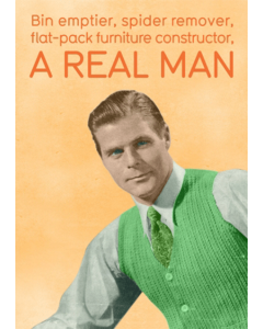 'A Real Man' Card