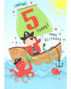 AGE 5 Card - Pirate