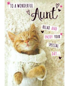 AUNT Card - Cute Kitten