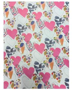 Folded Wrapping Paper - Patterned Hearts
