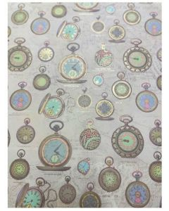 Folded Wrapping Paper - Pocket Watches