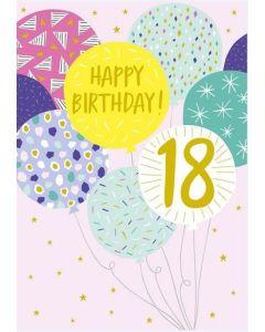18th Birthday - Coloured balloons