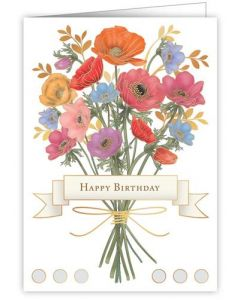 Birthday card - Colourful floral bunch