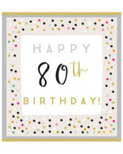 80th Birthday - Dots & stars