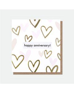 Anniversary - Gold hearts