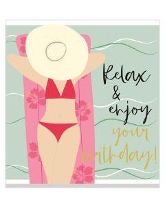 Birthday Card - Relax & Enjoy