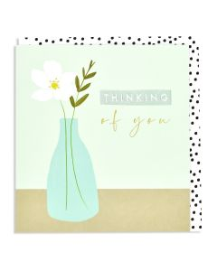 Thinking of you - White flower in vase