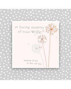 Sympathy WIFE - In loving memory of Wife
