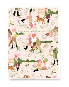 Birthday Card - 'Delightful' Countryside