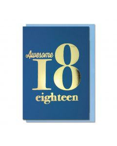 AGE 18 Card - Awesome Eighteen