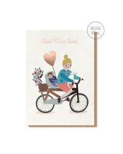 MUM Card - Best Mum Ever (Bicycle)