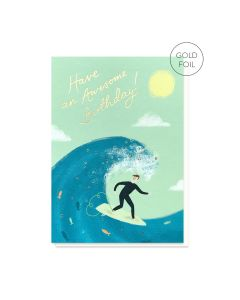 BIRTHDAY - Surfer Card