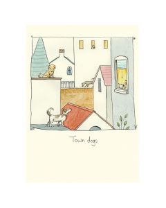 Greeting Card - Town Dogs