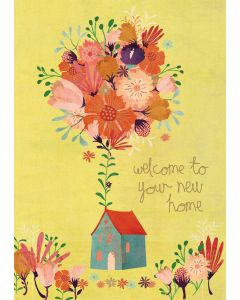 New Home - House with flowers