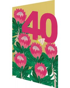 AGE 40 - Big pink flowers & butterfly