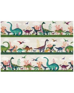 Folded wrapping paper - Dinosaur parade