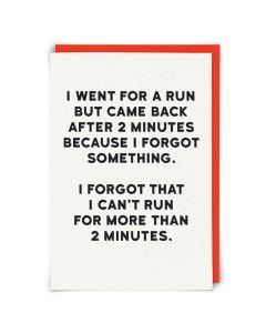 Greeting Card - Run