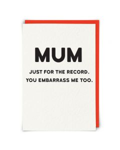MUM Card - Just for the Record