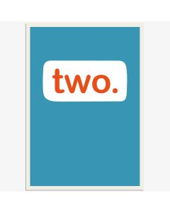 AGE 2 Card - 'two' on Blue