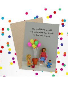 Greeting Card - Husband Poo
