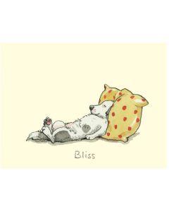 Greeting Card - 'Bliss' sleeping dog