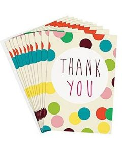 Thank You Cards - Colourful Spots (10 cards)