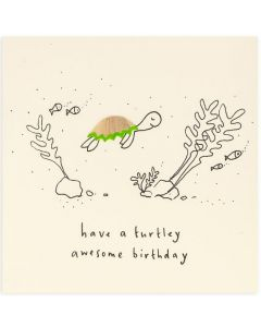 Birthday Card - Turtley Awesome
