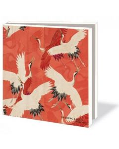 Notecard wallet - Red & White Cranes