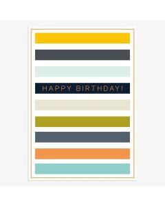 Birthday card - Horizontal stripe Birthday