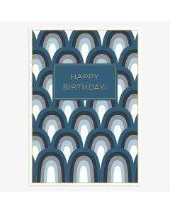 Birthday Card - Blue Arches