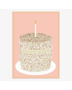 Birthday card - Birthday Wishes cake