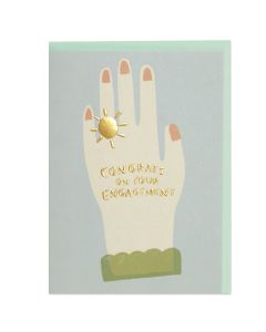 ENGAGEMENT card -  Hand with ring