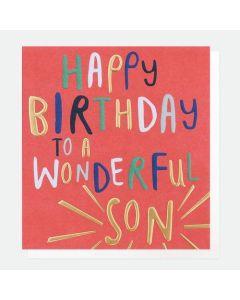 SON Birthday Card - Wonderful Son